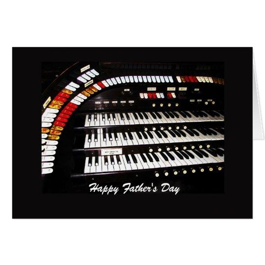 Vatertag antikes Organ-der glückliche Grußkarte