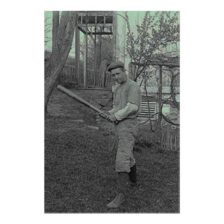 Vatertag Baseballschläger-Fotografie-der Vintage Posterdruck