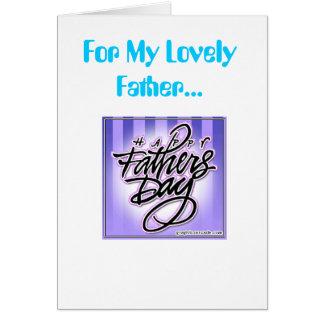 Vatertag, für meinen reizenden Vater… Grußkarte