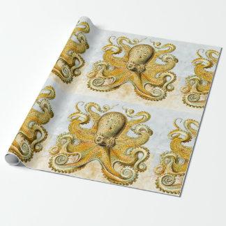 Vatertag gemaltes der Seekrake Kraken Tintenfisch- Einpackpapier