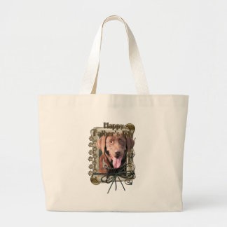 Vatertag - Labrador - Schokolade Tragetaschen