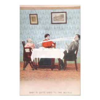 Vatertag lustige Babyseltzer-Flaschen-der Vintage Fotodrucke