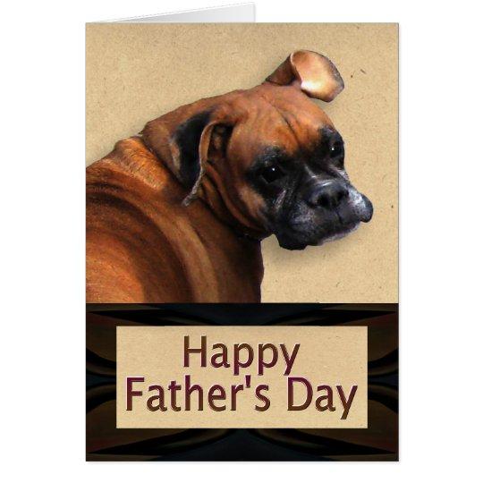 Vatertag mit Boxer-Hund Karte