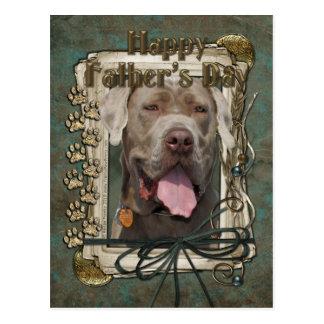 Vatertag - Neopolitan Mastiff Postkarte