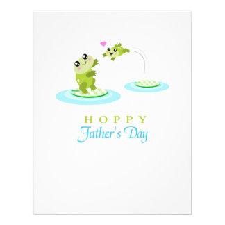 Vatertag niedlicher Frosch-der hopfenreiche Individuelle Ankündigung