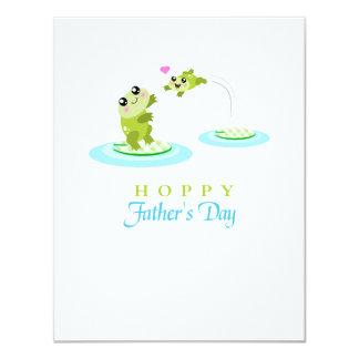 Vatertag niedlicher Frosch-der hopfenreiche 10,8 X 14 Cm Einladungskarte