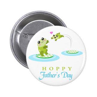 Vatertag niedlicher Frosch-der hopfenreiche glückl Buttons