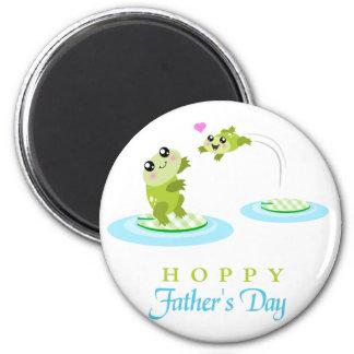 Vatertag niedlicher Frosch-der hopfenreiche glückl Kühlschrankmagnete