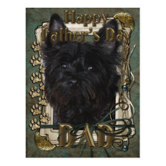 Vatertag - Steinhaufen Terrier - Rosco Postkarte