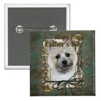 Vatertag - Steinhaufen Terrier - Teddybär Quadratischer Button 5,1 Cm