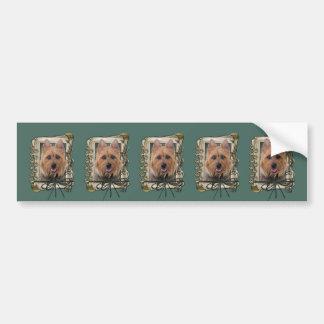 Vatertag - Steintatzen - australisches Terrier Autoaufkleber