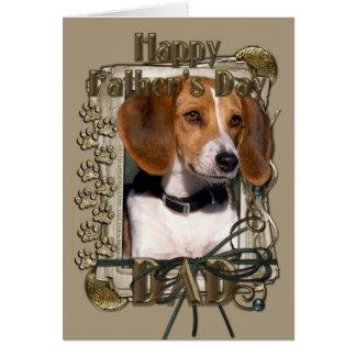 Vatertag - Steintatzen - Beagle Karte
