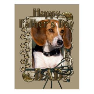 Vatertag - Steintatzen - Beagle Postkarten