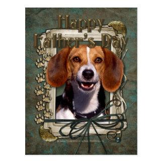 Vatertag - Steintatzen - Beagle Postkarte
