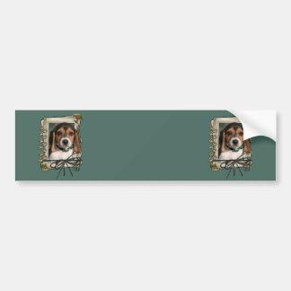 Vatertag - Steintatzen - Beagle-Welpe Autoaufkleber