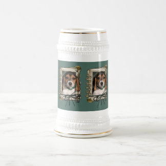 Vatertag - Steintatzen - Beagle-Welpe Bierkrug