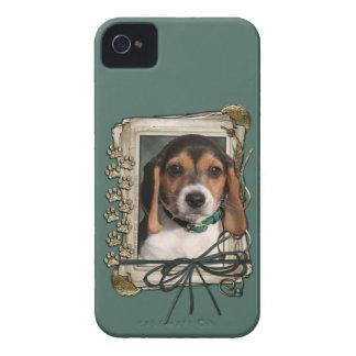 Vatertag - Steintatzen - Beagle-Welpe iPhone 4 Hülle