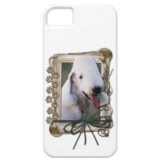 Vatertag - Steintatzen - Bedlington Terrier iPhone 5 Schutzhüllen