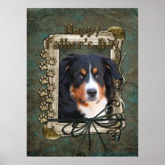 Vatertag - Steintatzen - Bernese Gebirgshund Plakatdrucke