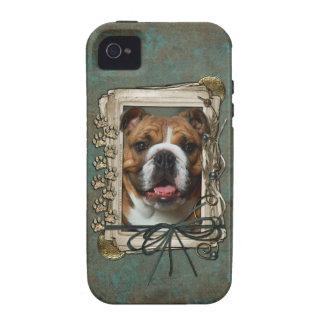 Vatertag - Steintatzen - Bulldogge Case-Mate iPhone 4 Case