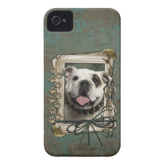 Vatertag - Steintatzen - Bulldogge iPhone 4 Cover