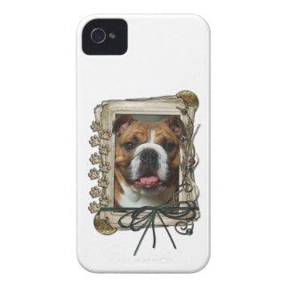 Vatertag - Steintatzen - Bulldogge iPhone 4 Hülle