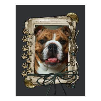 Vatertag - Steintatzen - Bulldogge Postkarte