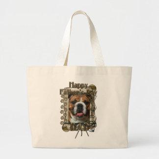 Vatertag - Steintatzen - Bulldogge Einkaufstasche