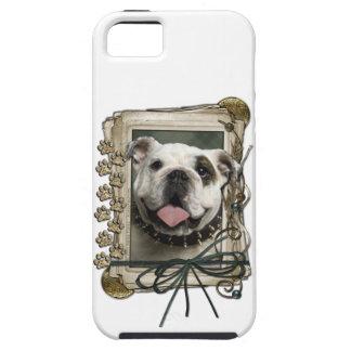 Vatertag - Steintatzen - Bulldogge Tough iPhone 5 Hülle