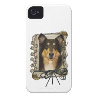 Vatertag - Steintatzen - Collie - Caroline iPhone 4 Etuis