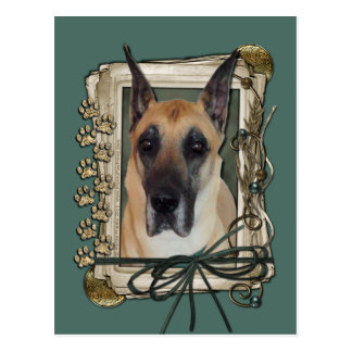 Vatertag - Steintatzen - Deutsche Dogge Postkarte