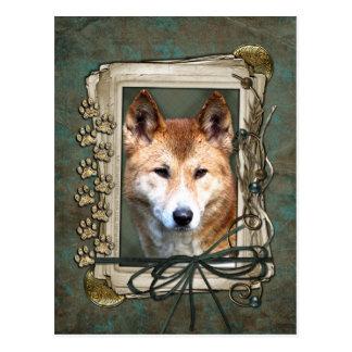 Vatertag - Steintatzen - Dingo Postkarten