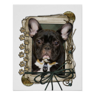Vatertag - Steintatzen - französische Bulldogge -  Poster