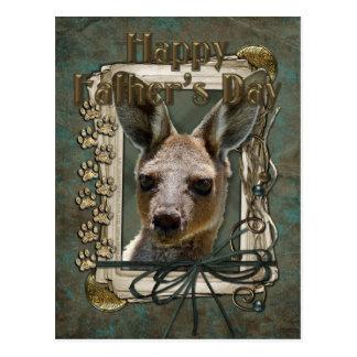 Vatertag - Steintatzen - Känguru Postkarte