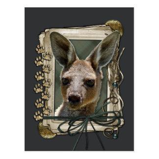 Vatertag - Steintatzen - Känguru Postkarten