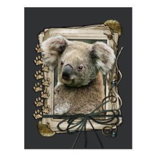 Vatertag - Steintatzen - Koala Postkarten
