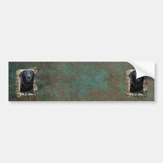 Vatertag - Steintatzen - Labrador - Schwarzes Autoaufkleber