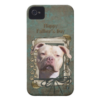 Vatertag - Steintatzen - Pitbull - Jersey-Mädchen iPhone 4 Case-Mate Hülle