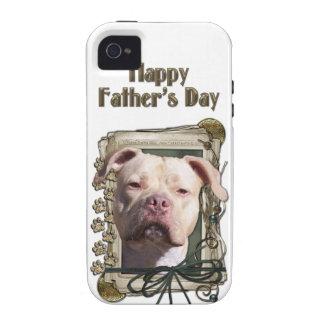 Vatertag - Steintatzen - Pitbull - Jersey-Mädchen iPhone 4/4S Cover