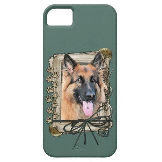 Vatertag - Steintatzen - Schäferhund iPhone 5 Cover
