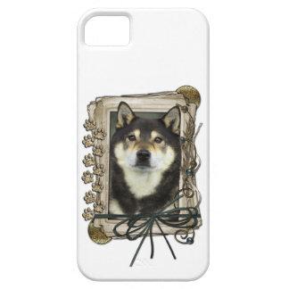 Vatertag - Steintatzen - Shiba Inu - Yasha iPhone 5 Schutzhülle