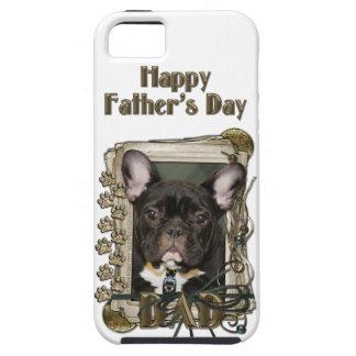 Vatertag VATI Stein-Tatzen - französische Bulldogg iPhone 5 Case