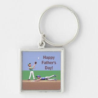 Vatertags-Baseball-Charaktere Schlüsselanhänger