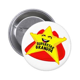 Vatertags-Button des Superstargroßvaters lustiges Runder Button 5,7 Cm