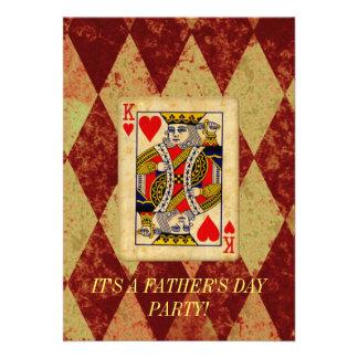 Vatertags-Einladung König-