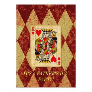 Vatertags-Einladung König- 12,7 X 17,8 Cm Einladungskarte