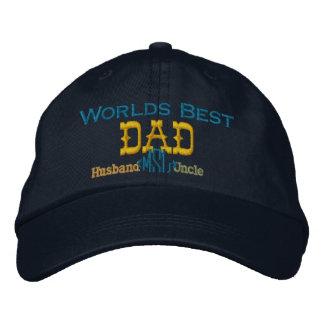 Vatertags-gestickter Hut Bestickte Baseballmützen
