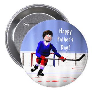 Vatertags-Hockey über die Zeit hinaus Runder Button 7,6 Cm