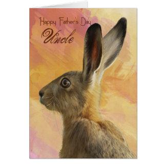 Vatertags-Karte Onkel-mit wilden Hasen Grußkarte