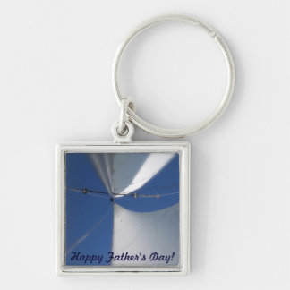 Vatertags-Schlüsselring Silberfarbener Quadratischer Schlüsselanhänger